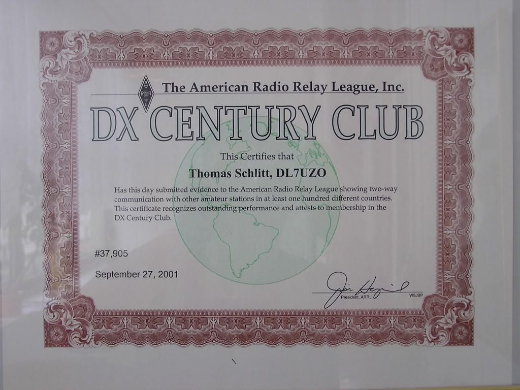 DXCC Award DL7UZO