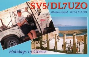 QSL-Karte SV5/DL7UZO